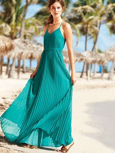 knife pleated maxi
