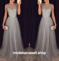 Silber Abendkleid Fiala