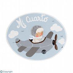 Placa de puerta personalizada: Niño aviador (ref. 12159-06)