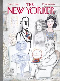 The New Yorker - Saturday, November 23, 1968 - Issue # 2284 - Vol. 44 - N° 40 - Cover by : Saul Steinberg