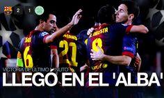 Barcelona sufrió y tuvo que venir de atrás para conseguir una victoria de último minuto. Jordi Alba marcó el 2-1 al minuto 93 y le dio el triunfo a los blaugranas.