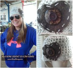LISA -- AweSome #Crochet by Gina Renay Designs #hat #oneofakind #pretty #unique #handmade #entrepreneurial My Stitch is like woah....