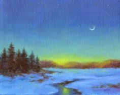THE DORMANT LAND winter landscape oil painting, painting by artist Barbara Fox