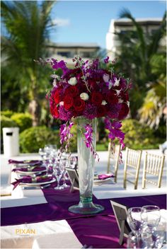 Gorgeous table decorations from a stylish destination wedding at Secrets Maroma Beach Riviera Cancun! Cancun Wedding, Destination Wedding Inspiration, Themed Weddings, Resort Spa, Beach Themes, The Secret, Table Decorations, Stylish, Fun