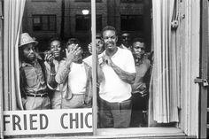 Crowd watches Birmingham protests; Birmingham, Alabama, May 3, 1963. Photograph by Charles Moore. (Charles Moore/Black Star)