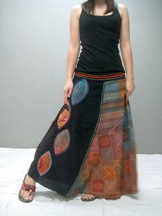 Gypsy skirt 261.3 by thaitee on Etsy