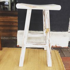 Just arrived our white wash teak stools ..