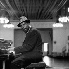 Thelonious Monk, American jazz pianist & composer: photographer William Claxton, 1961