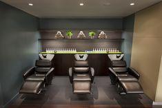 Gina Conway Aveda Chelsea shampoo stations #salon #spa #aveda #kingsroad