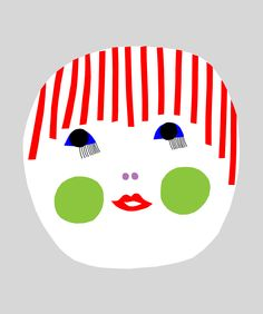 """""""Naamat"""", one of a series of illustrations for prints, t-shirts, and bags, designed by Marimekko designer Maija Louekari for the Flow Festival in Helsinki, 2011."""