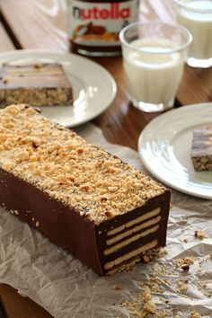 The one with all the tastes Candy Recipes, Sweet Recipes, Dessert Recipes, Mnm Cake, Nutella Biscuits, Waffle Cake, Nutella Cake, Greek Desserts, Yogurt Cake
