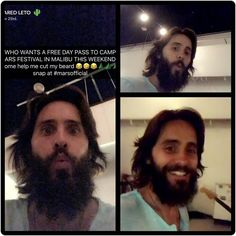 """""""Mi piace"""": 18, commenti: 1 - @conny1612 su Instagram: """"Jared on snapchat Please Jared keep your beard But i would help you as well, if you really…"""""""