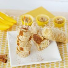 Fast Healthy Breakfast Recipes : Illustration Description FOOD – Warm Banana Roll-Ups. Warm and crispy! These Banana Roll Ups have been super popular with our readers! Super Healthy Kids, Healthy Snacks For Kids, Yummy Snacks, Yummy Food, Kid Snacks, Lunch Snacks, Kid Lunches, Fruit Snacks, School Lunches