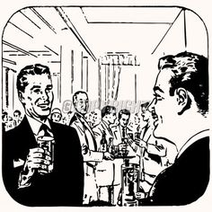 cartoon retro vintage cocktail stock image
