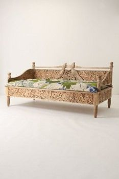 anthropologie daybed. The wood detailing is fabulous!