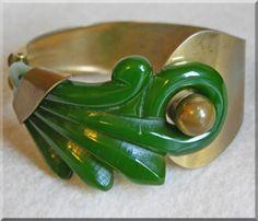 Bakelite and brass bracelet