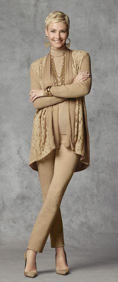 Chico's Luxe Lace Harriet Cardigan.  #chicossweeps