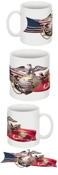 Marine Corp Salute Hat and Coffee Mug Combo Set. Get the custom iphone case to match your rear window mural.