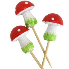 Little Red Riding Hood Party Supplies | Life's Little CelebrationsLife's Little Celebrations Toadstool Cupcake toppers from Ruby Rabbit partyware