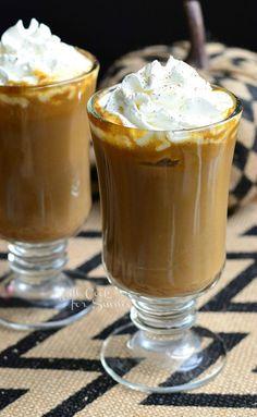 Pumpkin White Chocolate Mocha Latte from willcookforsmiles.com #coffee #drink