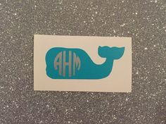 A personal favorite from my Etsy shop https://www.etsy.com/listing/269301886/monogrammed-whale-decal
