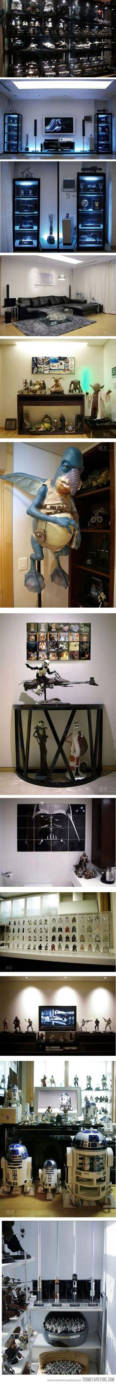 Star Wars Home. This is awesome. Would be better without the nightmare before Christmas characters though
