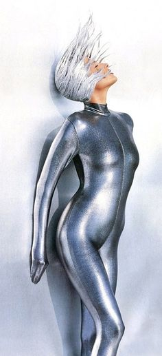 Molten Metallics Tatjana Patitz photo by Herb Ritts 1991 dilipda