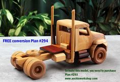 Aschi's Workshop Plans Check out hundreds of plans. Home of the easy to build Toy and Model Plans. Boats, Trucks, Cars, Trailers, Farm Toys, Airplanes, Scale models, Fun Toys and more…