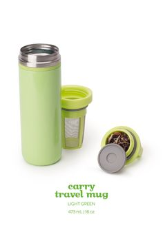 SPRING 2015 - Keep your tea piping hot for hours with this leakproof travel mug in light green. Davids Tea, Tea For One, Herbal Tea, Spring 2015, Awesome Stuff, Travel Mug, Tea Time, Envy, Herbalism