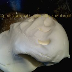 Hair conditioner and corn starch make a super soft dough.  Fun and inexpensive! :-)