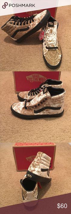 Velvet SK8Hi Tan/Black Vans New in box. Tan/black Vans Shoes Sneakers