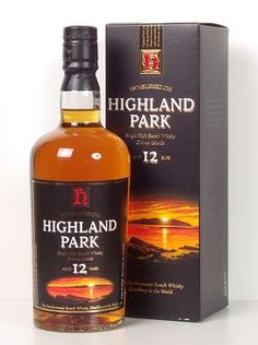 Highland Park A little honey, a little vanilla, a little peat. Good one from the Orkney Islands. Oldest Whiskey, Good Whiskey, Orkney Islands, 12 Year Old, Distillery, Whiskey Bottle, Park, Scotch, Cigars