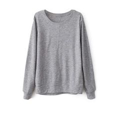 Patched Sheer Grey Sweatshirt  #pariscoming your personal style online store. #outfit #stylist #Styling #streetstyle #fashionblog #fashiondiaries #fashiondiary #WearIt #WhatYouWear ✿ ❀ like it? buy now ❀ ✿