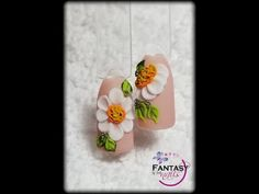 #2 🌼Daisy 3D🌼 - YouTube 3d Nail Art, 3d Nails, Acrylic Nails, Secret Nails, 3d Rose, Nail Art Videos, Learn Art, Nail Tutorials, Beauty Nails