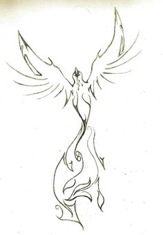Tattoo Idea: Phoenix #1 by Falcon01733.deviantart.com on @deviantART