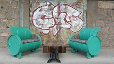 Coole Upcycling Möbel. Industrie - Loft style. Zu finden auf ninety-seven.de