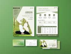 컨셉디자인 - GREEN YOGA Print Design, Graphic Design, Design Design, Corporate Brochure Design, Promotional Design, Packaging Design, Magazine Layouts, Leaflets, Humor