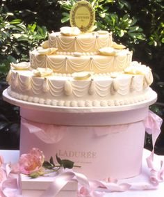 Dream birthday cake... since my wedding cake already happened. OR maybe an anniversary cake? A Laduree wedding cake