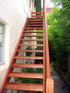 Eric Jones - Leading staircase manufacturer, offering stylish outdoor staircase, Call us for affordable external staircase Outside Stairs Design, Wooden Staircase Design, Wooden Staircases, Stairways, Staircase Outdoor, Staircase Manufacturers, Eric Jones, External Staircase, Garden Stairs