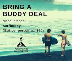 """TAG a friend to join you in this unreal deal! - we close the discount signups for the challenge at midnight tomorrow! - to get - Click the link on the bio and enter """"surfbuddy"""" at checkout! 6 Week Challenge, Big Island, Bring It On, Join, Challenges, Strong, How To Get, Movie Posters, Film Poster"""
