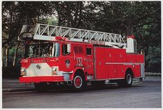 Mack Aerial Ladder Fire Truck, New York City Fire Department in Collectibles, Postcards, US States, Cities & Towns   eBay