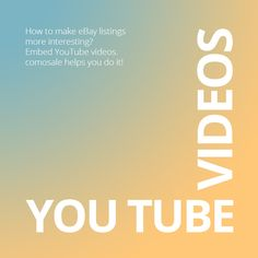 How can you make  #eBay listings more interesting for buyers? Add YouTube videos to show more about the products you are selling. #comosale helps you do it.  http://comocom.com/seller-youtube-videos