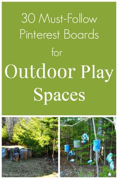 The best Pinterest boards for inspiring outdoor play spaces. Mud kitchens, water walls, natural playscapes, DIY sandboxes, outdoor music stations and more!