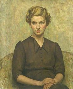 Portrait of a Young Woman by Arnold Mason  Derby Museums and Art Gallery