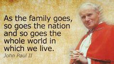 A Shepherd's Post: St. John Paul II: Heavenly Friend of Families