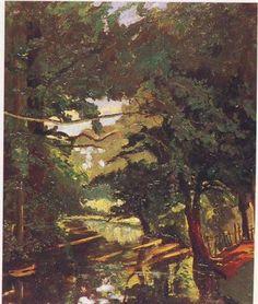 Wooded Water near Blenheim - Winston Churchill