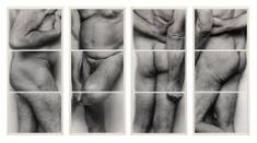 John Coplans Self-Portrait (Frieze No. Four Panels) 1994 'By cropping off the head, Coplans presents these depersonalised images of the body as a surprising, intriguing object, fascinating in detail and malleability'