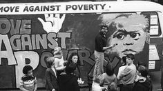 Rolf Harris paints a mural at an event for the Move Against Poverty campaign in Liverpool. 1978.   Cue obvious jokes on the 'can you see what it is yet'  theme...