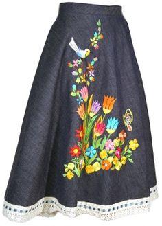 1970s Denim Skirt