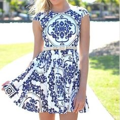 | Xenia | navy blue paisley dress Navy blue pattern with paisley accents. Australian size 6, US size 0/2 Xenia Dresses
